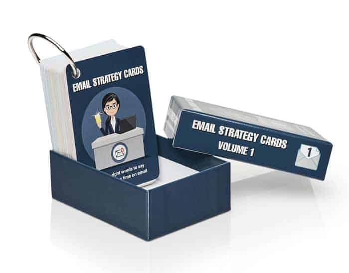 Email Strategy Cards full deck in premium rigid case with nickel-plated binding ring