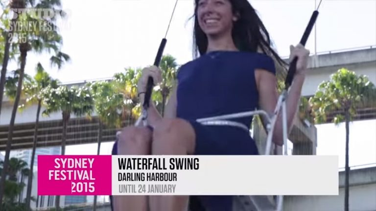 Screenshot of Waterfall Swing video taken at Sydney Festival in Australia