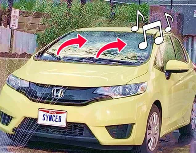 Windshield Wipers Synchronized to Music